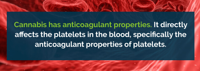 marijuana anticoagulant