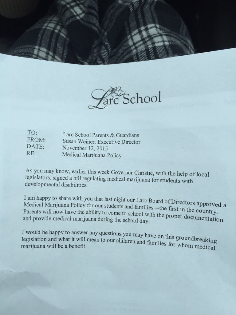 Larc School, New Jersey, first in the nation to allow medical marijuana at school!