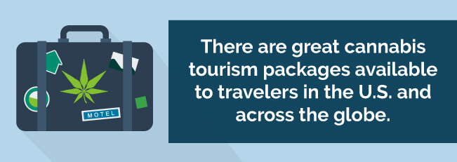 There are great cannabis tourism packages available to travelers in the US and across the globe