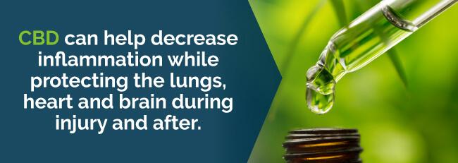 CBD can help decrease inflammation