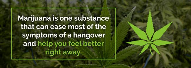 hangover relief marijuana