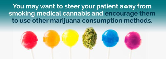 Use other marijuana consumption methods besides smoking