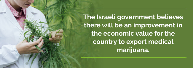 Government believes there will be an improvement in economic value for the country to export medical marijuana