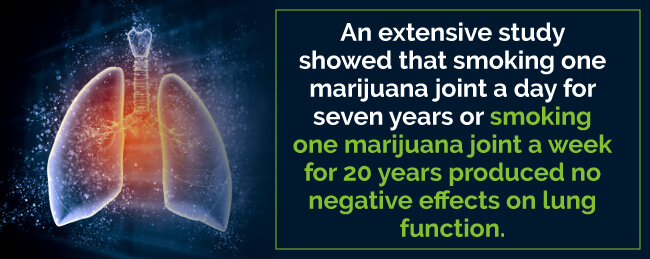 A Study showed that smoking a joint produced no negative effects on lung function