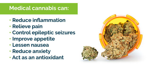 Medical cannabis can do many things