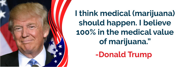 I believe 100% in the medical value of marijuana - Donald Trump
