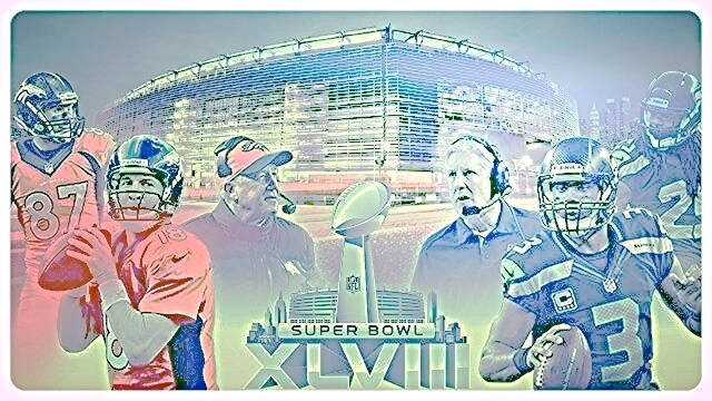 Seattle Seahawks vs. Denver Broncos in Super Bowl XLVIII, or First Ever Marijuana Bowl