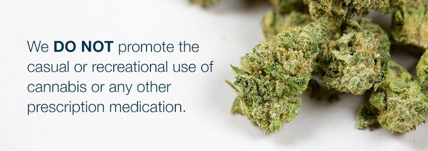 do not promote casual marijuana usage