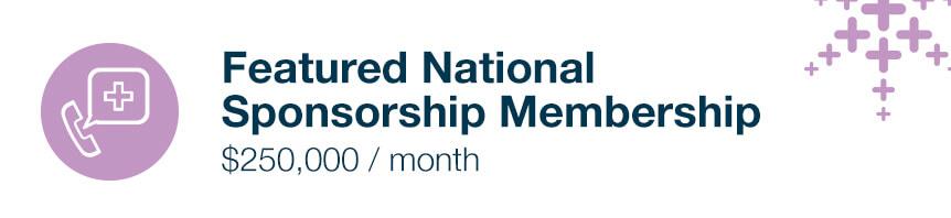 featured national sponsorship membership