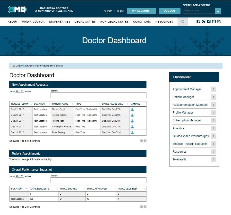 doctor dashboard