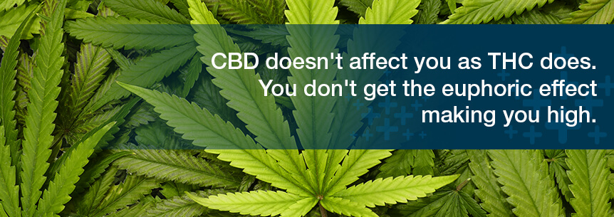 cbd doesn't affect you the way THC does