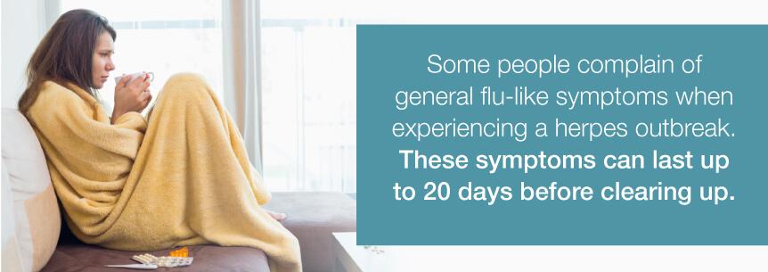 herpes flu symptoms