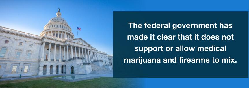 fed gov marijuana guns