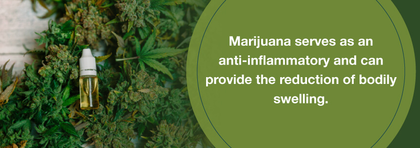 marijuana swelling help