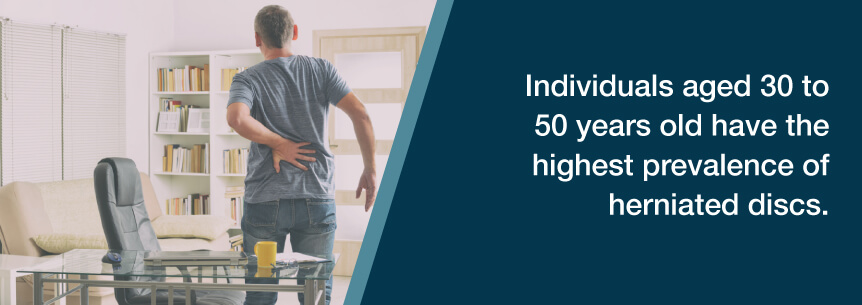 herniated disc age