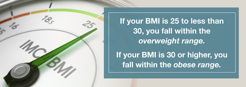 obese bmi range