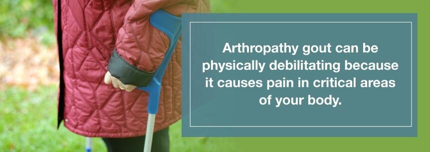 arthropathy gout pain