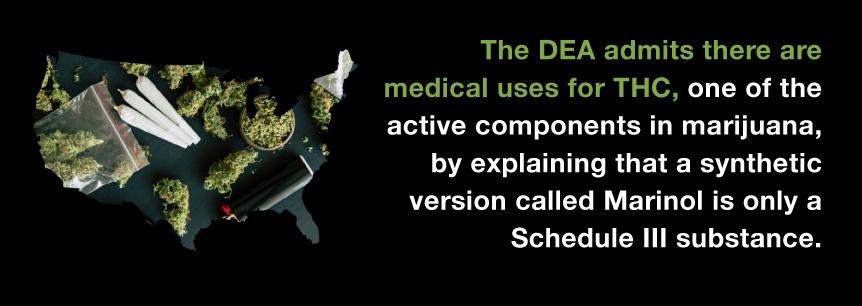 dea admits use of thc