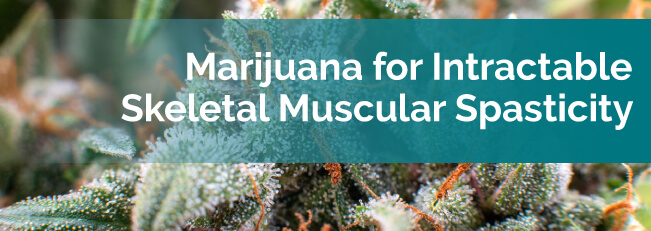 marijuana for skeletal muscular spasticity