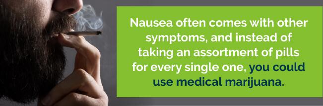help nausea with marijuana