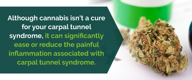 marijuana reduces inflammation associated with carpal tunnel