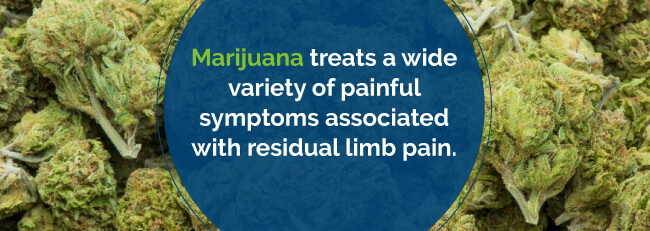 Marijuana treatment for residual limb pain
