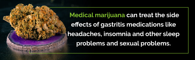 gastritis medication side effects treated with marijuana