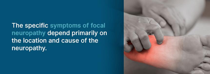 symptoms of focal neuropathy