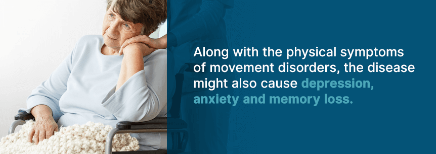 symptoms of movement disorders