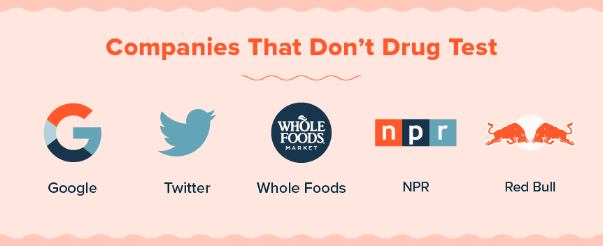 companies that don't drug test
