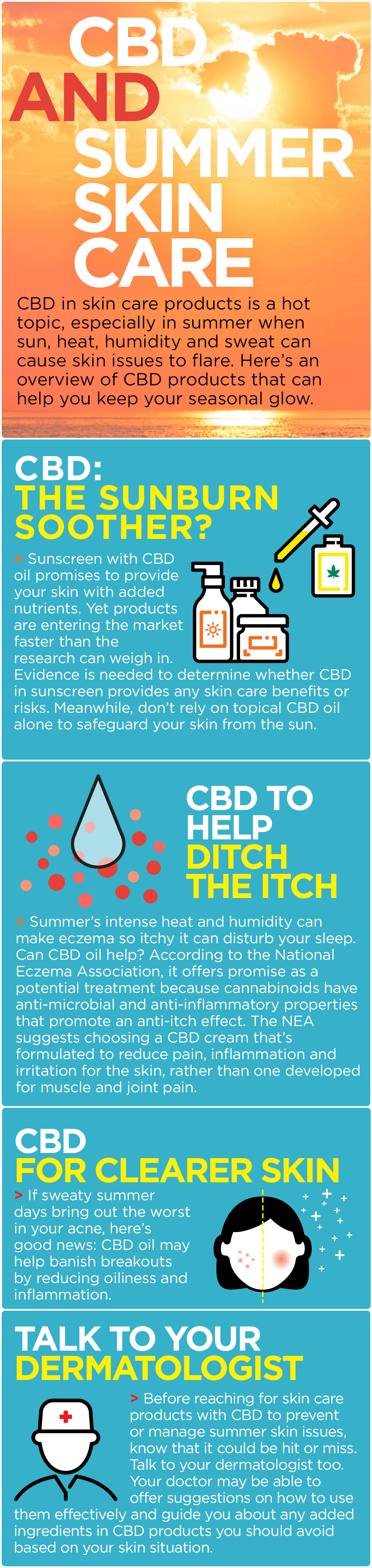 Your Guide to CBD and Summer Skin Care | Marijuana Doctors