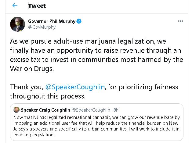 Gov Murphy NJ Cannabis